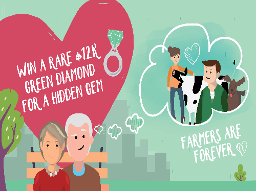 Jewellers gift a diamond to show their love for dairy farmers